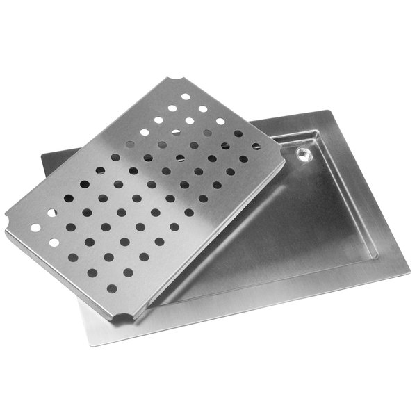 "Advance Tabco DP-1836 Stainless Steel Countertop Drain Pan - 36"" x 18"""