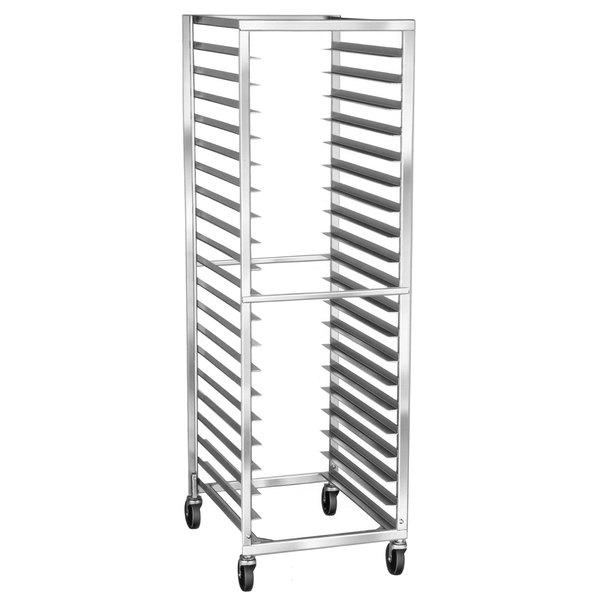 Lakeside 138 16 Pan End Load Stainless Steel Bun / Sheet Pan Rack - Assembled Main Image 1