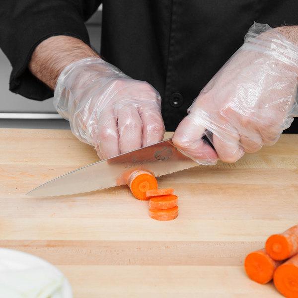 "Victorinox 47720 7 1/2"" Serrated Chef Knife with Fibrox Handle"