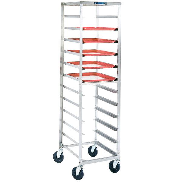 Lakeside 168 10 Pan End Load Stainless Steel Bun / Sheet Pan Rack - Assembled
