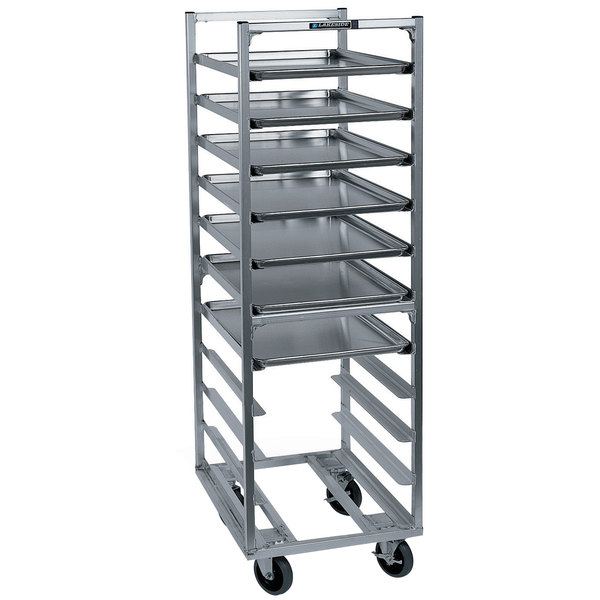 Lakeside 8529 18 Pan End Load Aluminum Bun / Sheet Pan Rack - Assembled