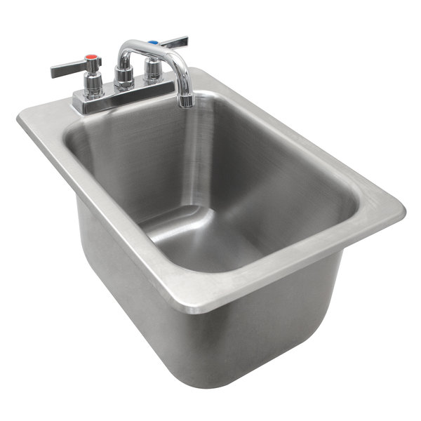 """Advance Tabco DBS-1 One Compartment Stainless Steel Drop-In Bar Sink - 12"""" x 20"""""""