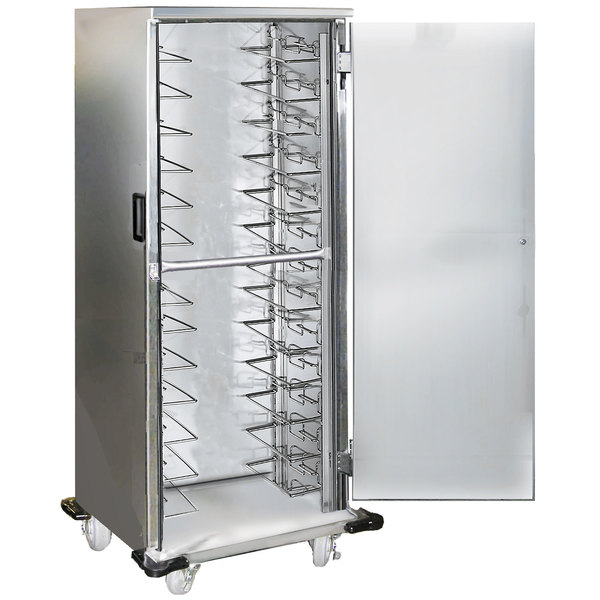 Lakeside 6540 13 Pan End Load Stainless Steel Enclosed Bun / Sheet Pan Rack with Universal Ledges - Assembled