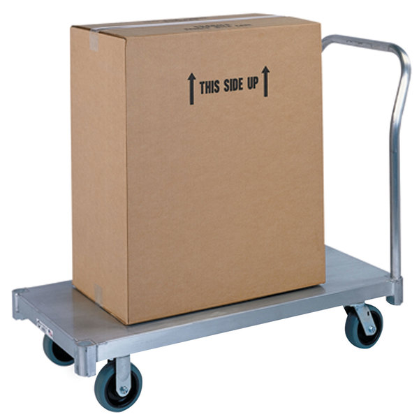"Lakeside 7516 Aluminum Single Handle Platform Truck - 50 1/2"" x 24"" x 42"""