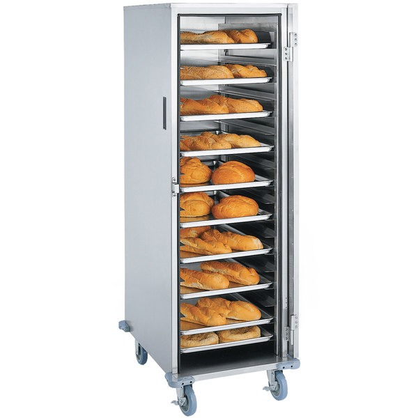 Lakeside 6532 7 Pan End Load Stainless Steel Enclosed Bun / Sheet Pan Rack - Assembled