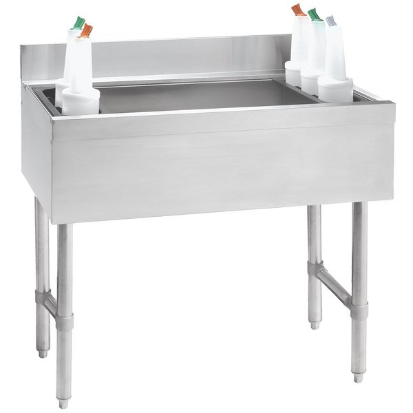 """Advance Tabco CRI-12-48-7 Stainless Steel Underbar Ice Bin with 7-Circuit Cold Plate - 48"""" x 21"""" Main Image 1"""