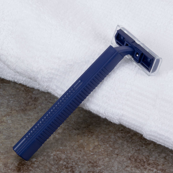Blue Twin Blade Disposable Razors - 500/Case