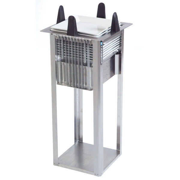 """Lakeside S4011 Unheated Open Square Drop-In Dish Dispenser for 10 1/2"""" to 11 1/4"""" Dishes"""