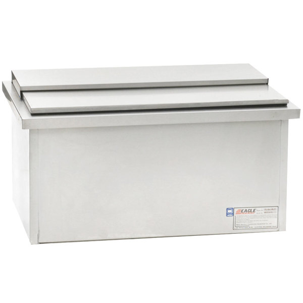 "Eagle Group DIC2616-8 Spec-Bar 30"" Drop-In Ice Chest with Sliding Lid and Cold Plate"