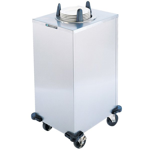 "Lakeside 5108 Stainless Steel Enclosed One Stack Non-Heated Plate Dispenser for 7 3/8"" to 8 1/8"" Plates"