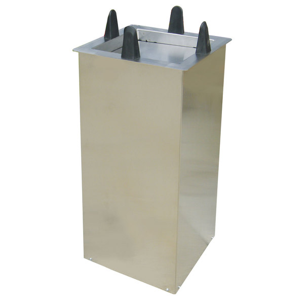 """Lakeside S5011 Unheated Shielded Square Drop-In Dish Dispenser for 10 1/2"""" to 11 1/4"""" Dishes Main Image 1"""