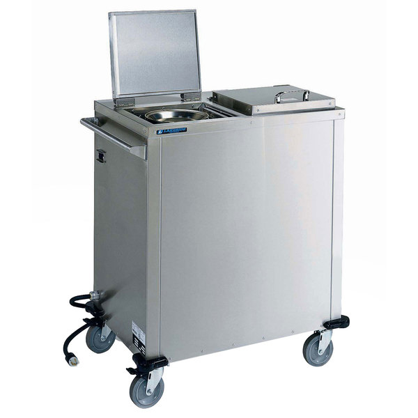 "Lakeside 7500 Duo-Therm™ Stainless Steel Heated Two Stack Plate Dispenser for 7"" to 10 1/4"" Plates and Pellets"