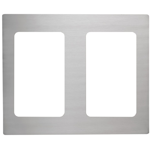 Vollrath 8250214 Miramar Stainless Steel Double Well Adapter Plate for Two 3/4 Size Food Pans Main Image 1