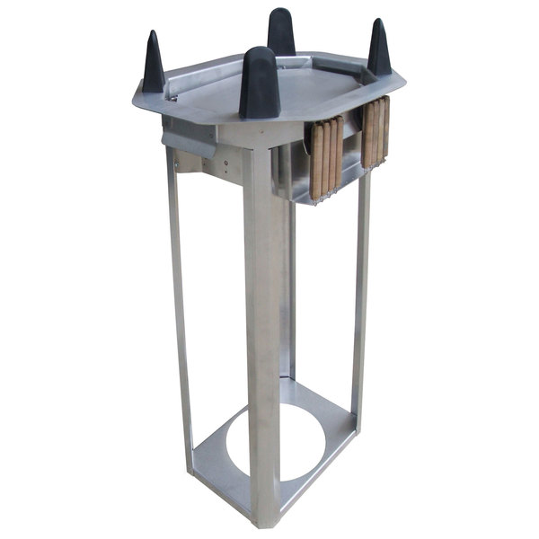 """Lakeside V4011 Unheated Open Oval Drop-In Dish Dispenser for 8"""" x 10 3/4"""" to 8 1/2"""" x 11 1/2"""" Dishes Main Image 1"""