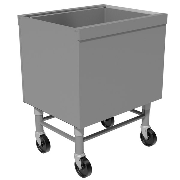 "Advance Tabco SCI-MIC-36 Stainless Steel Portable Ice Bin - 36"" x 18 3/4"""