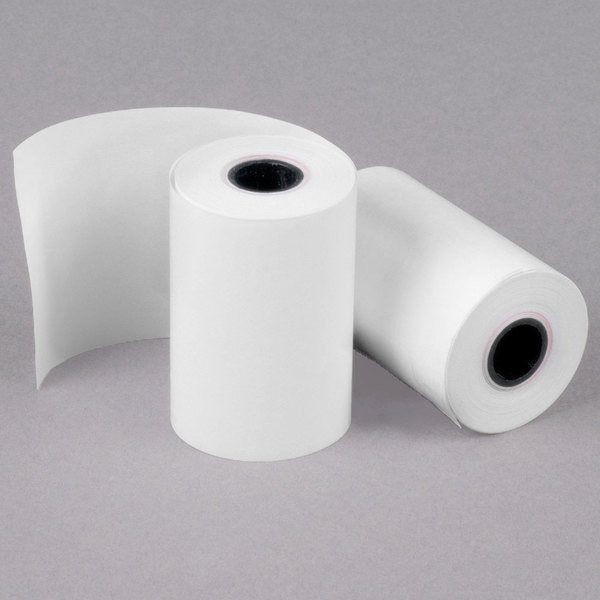 Sold as 3 Roll 3//Pk Cash Register//Calculator Roll White Thermal Paper Rolls 2 1//4 x 85 ft