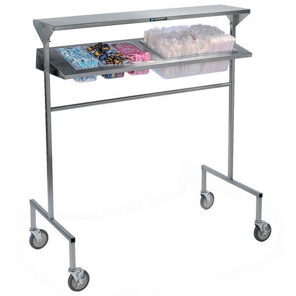 """Lakeside 2600 Stainless Steel Mobile Station for Pans - 25 1/2"""" x 52 1/2"""" x 58"""" Main Image 1"""