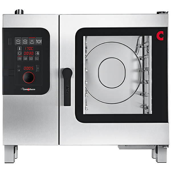 Convotherm C4ED6.10GS Liquid Propane Half Size Boilerless Combi Oven with easyDial Controls - 37,500 BTU