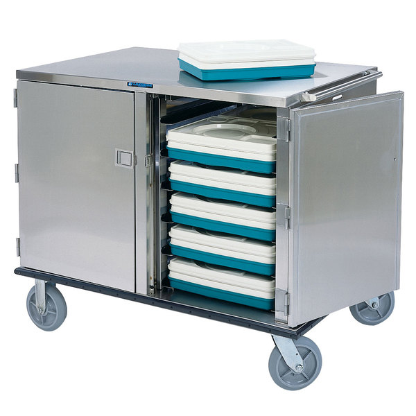 Lakeside 836 Premier Series Stainless Steel Low Profile Tray Cart - 28 Tray Capacity Main Image 1