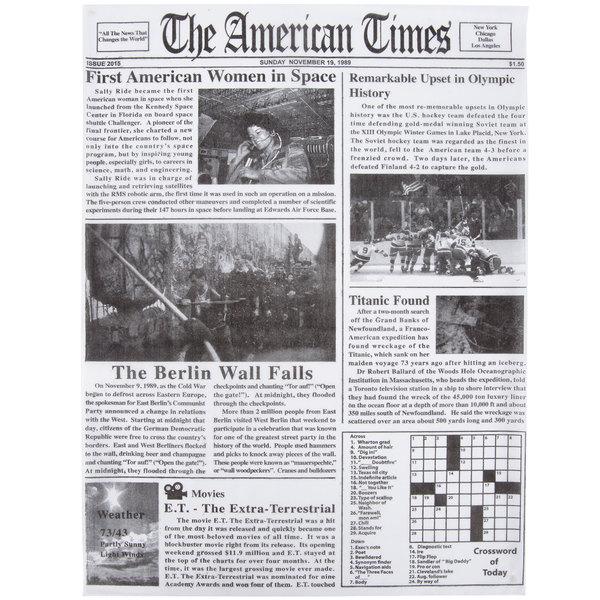 Choice 16 inch x 12 inch Newspaper Print Deli Sandwich Wrap Paper - 2000/Case