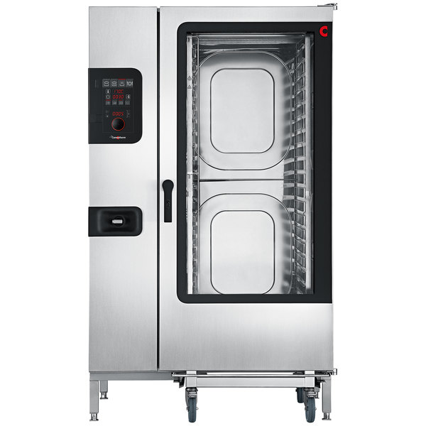 Convotherm C4ED20.20GS Liquid Propane Full Size Roll-In Boilerless Combi Oven with easyDial Controls - 218,400 BTU
