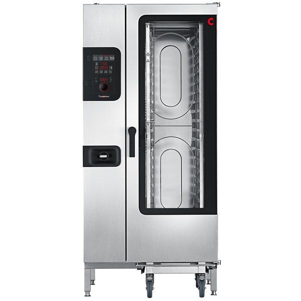 Convotherm C4ED20.10GS Liquid Propane Half Size Roll-In Boilerless Combi Oven with easyDial Controls - 136,500 BTU