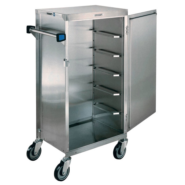 Lakeside 854 Stainless Steel Enclosed Tray Cart - 6 Tray Capacity
