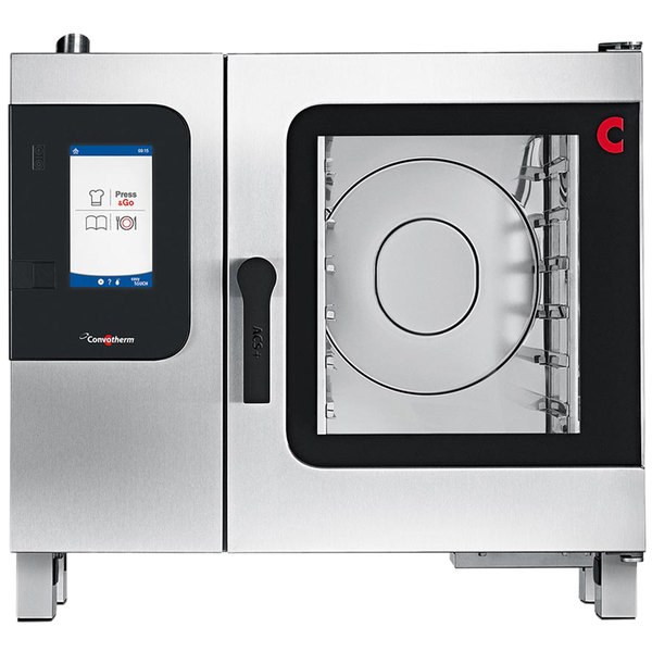 Convotherm C4ET6.10GB Natural Gas Half Size Combi Oven with easyTouch Controls - 75,000 BTU