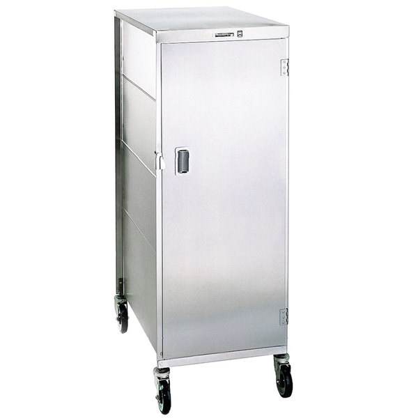 """Lakeside 842 Compact Series Single Door Stainless Steel Tray Cart for 14"""" x 18"""" Trays - 20 Tray Capacity Main Image 1"""