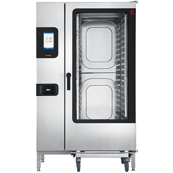 Convotherm C4ET20.20GS Natural Gas Full Size Roll-In Boilerless Combi Oven with easyTouch Controls - 218,400 BTU Main Image 1