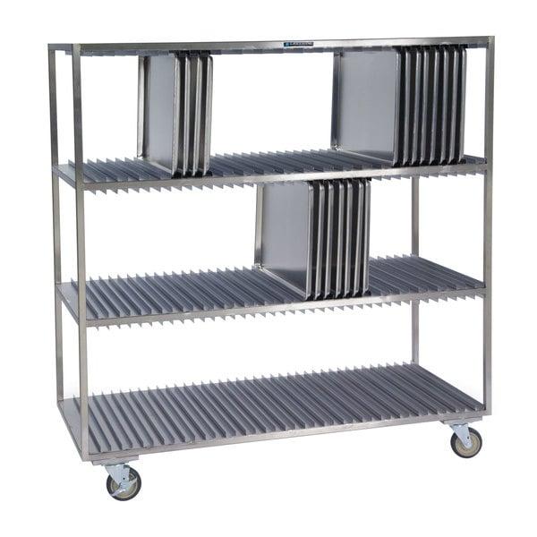 Lakeside 848 Stainless Steel Sheet Pan Drying Rack - 120 Pan Capacity