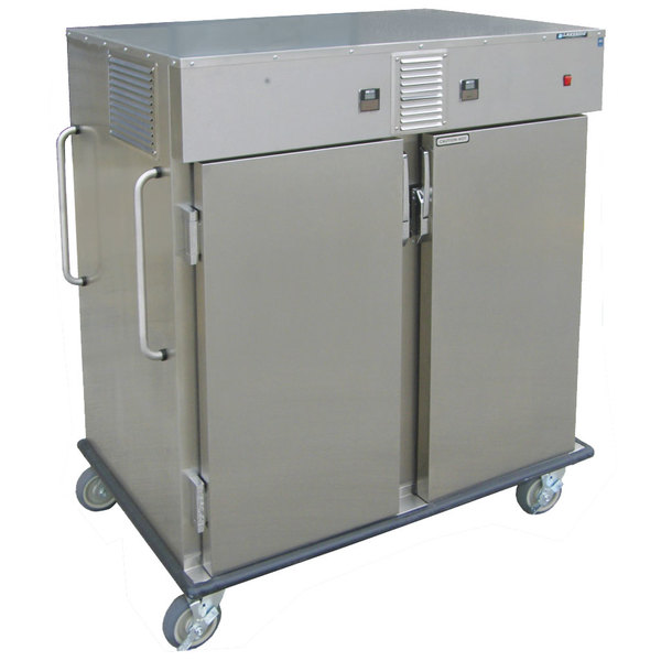Lakeside 6760HH Stainless Steel Meal Delivery Cart with 2 Heated Compartments Main Image 1