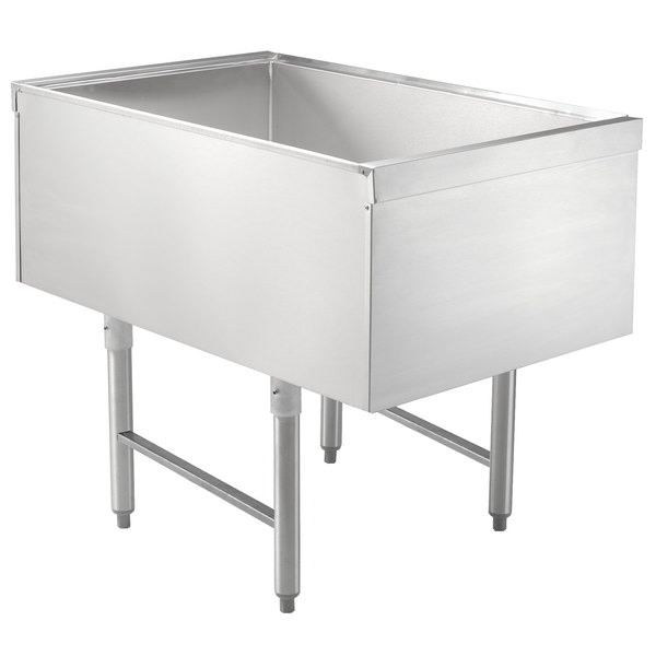 """Advance Tabco CRPT-2436-7 Stainless Steel Pass-Through Ice Bin with 7-Circuit Cold Plate - 24"""" x 36"""""""