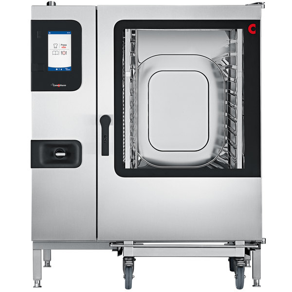 Convotherm C4ET12.20GB Liquid Propane Full Size Roll-In Combi Oven with easyTouch Controls - 211,200 BTU Main Image 1