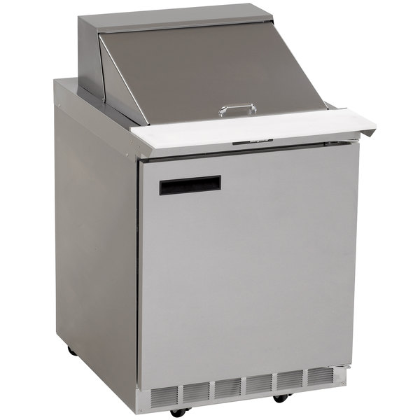 "Delfield 4427N-12M 27"" 1 Door Mega Top Refrigerated Sandwich Prep Table Main Image 1"