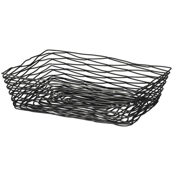 BK17212 Artisan Rectangular Black Wire Basket - 12\