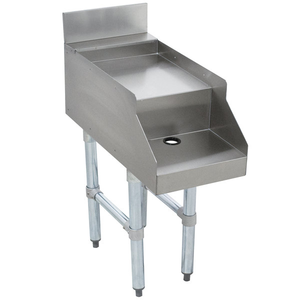 """Advance Tabco CR-DB-15 Stainless Steel Double Step Blender Station - 15"""" x 26"""""""