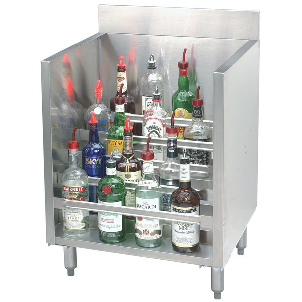 "Advance Tabco CRLR-30 Stainless Steel Liquor Display Cabinet - 30"" x 21"""