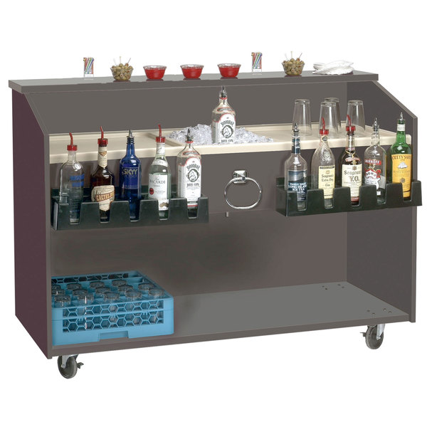"Advance Tabco M-B Portable Bar with ABS Molded Work Top - 61"" x 24 1/2"""
