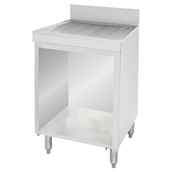 "Advance Tabco CRD-4B Stainless Steel Drainboard Storage Cabinet - 48"" x 21"""