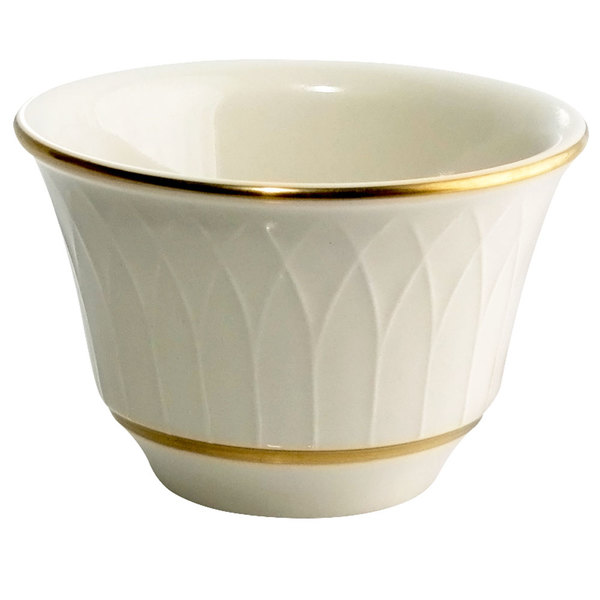 Homer Laughlin 1420-0330 Westminster Gothic Ivory (American White) 7 oz. China Bouillon Bowl - 36/Case