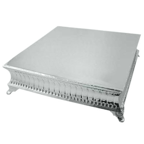 Tabletop Classics AC-9128 22 inch Nickel Plated Square Cake Stand