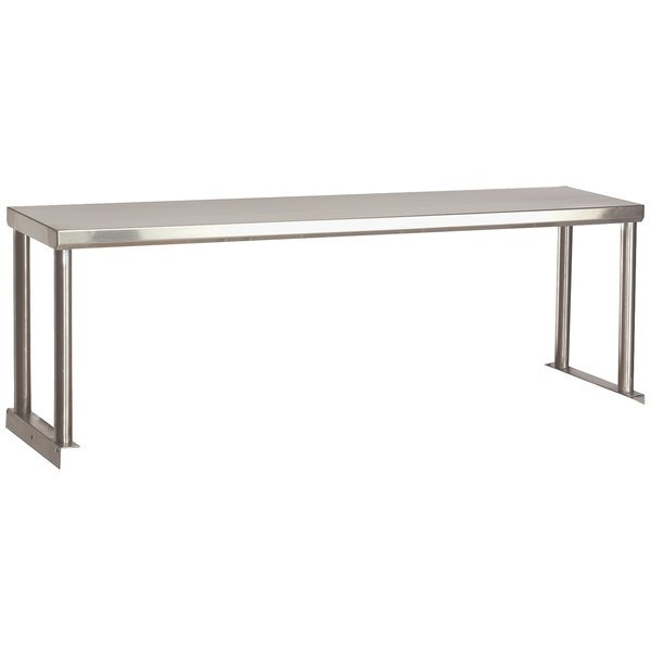 "Advance Tabco STOS-4 Stainless Steel Single Overshelf - 12"" x 62 3/8"" Main Image 1"