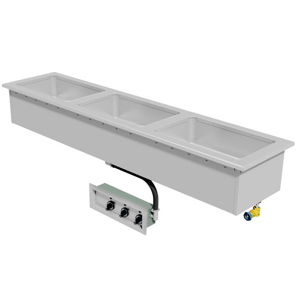 Advance Tabco DISLSW-3-240 Stainless Steel Slimline Three Well Drop-In Sealed Electric Unit - 208/240V