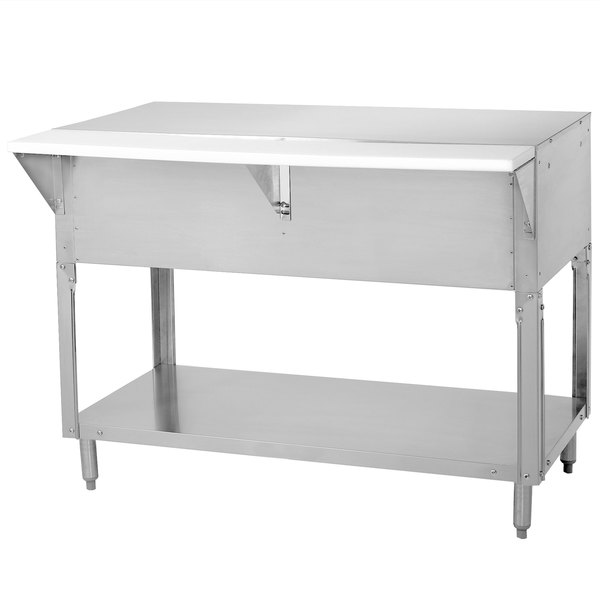 Advance Tabco STU-4 Solid Top Stainless Steel Food Table with Undershelf Main Image 1