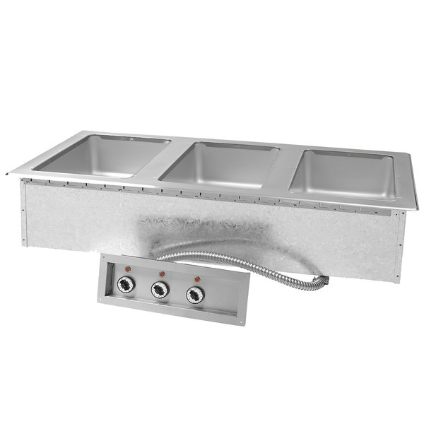Advance Tabco DISW-3-120 Stainless Steel Three Well Drop-In Sealed Electric Unit - 120V Main Image 1