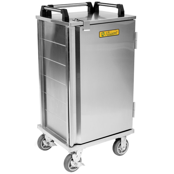 Alluserv RS07 Stainless Steel 7 Tray Meal Delivery Cart Main Image 1