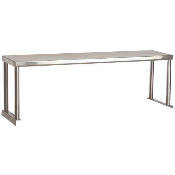 "Advance Tabco STOS-4-18 Stainless Steel Single Overshelf - 18"" x 62 3/8"" Main Image 1"