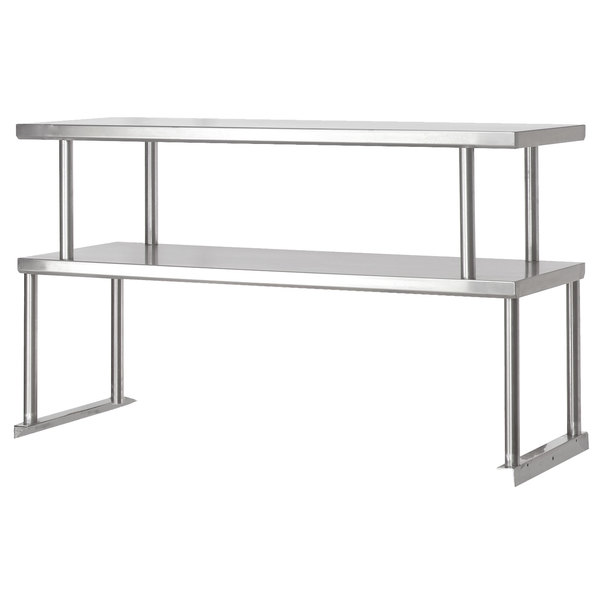"""Advance Tabco TOS-4 Stainless Steel Double Overshelf - 12"""" x 62 3/8"""" Main Image 1"""