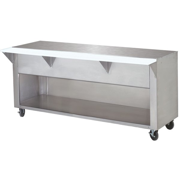 Advance Tabco STU-3-BS Solid Top Stainless Steel Food Table with Enclosed Base